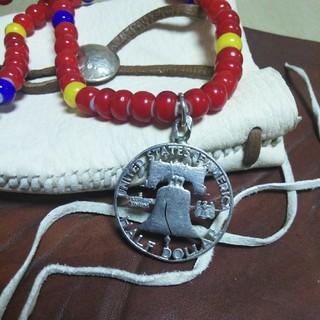 ハーフ•ダラー•コイン(透かし彫り)ヘッドネックレス(ネックレス)