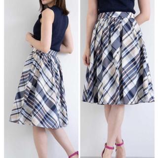 プロポーションボディドレッシング(PROPORTION BODY DRESSING)のチェック スカート(ひざ丈スカート)