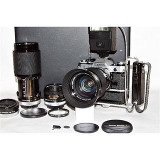 キヤノン(Canon)のCanon AE-1 FDレンズ Vivitarレンズ2本 付属品多数(フィルムカメラ)
