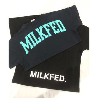 ミルクフェド(MILKFED.)のMILKFED.×Champion  コラボTシャツ  2枚セット‼︎(Tシャツ(半袖/袖なし))