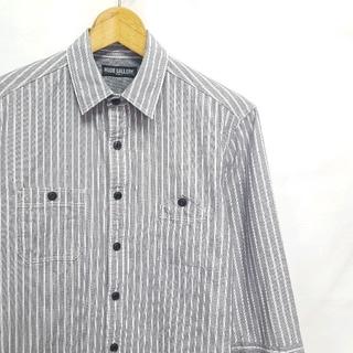 ルードギャラリー(RUDE GALLERY)の★日本製 RUDE GALLERY 七分 ストライプ ワークシャツ(シャツ)