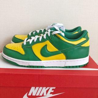 27CM Nike SB Dunk low Brazil CU1727-700(スニーカー)