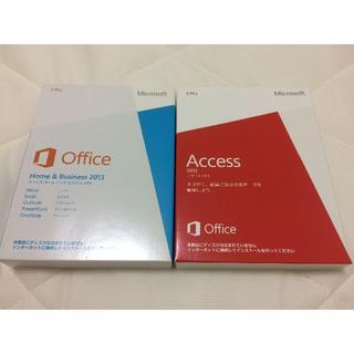 マイクロソフト(Microsoft)のOffice H&B 2013 + Access 2013(アカウント譲渡)(その他)