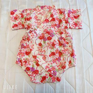 浴衣甚平70 女の子ロンパース(甚平/浴衣)