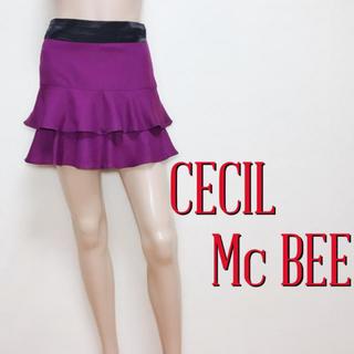 セシルマクビー(CECIL McBEE)の極かわ♪セシルマクビー フェミニン 段フレアスカート♡マウジー エゴイスト(ミニスカート)