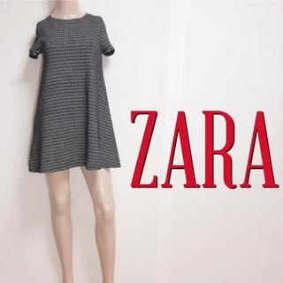 ザラ(ZARA)の洗練♪ザラ Aライン カジュアルコットンワンピース♡マウジー マークジェイコブス(ミニワンピース)