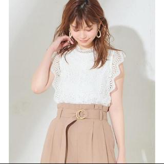 アンドクチュール(And Couture)のand couture レーストップス(カットソー(半袖/袖なし))