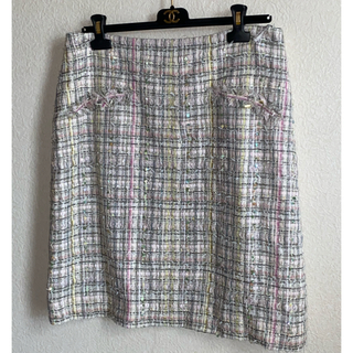 CHANEL - Chanel シャネル スカート ファンシーツィード ルサージュ