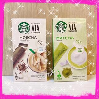 Starbucks Coffee - 大人気❗️スターバックスVIA☆ほうじ茶ラテ&抹茶ラテ