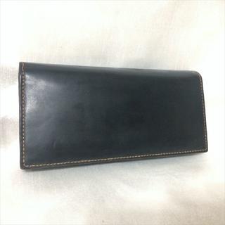 ガンゾ(GANZO)のGANZO コードバン 小銭入れ付き長財布 ブラック ガンゾ(長財布)