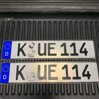 AUDI - 114 本物 ユーロナンバープレート ドイツ BMW ベンツ アウディポルシェ