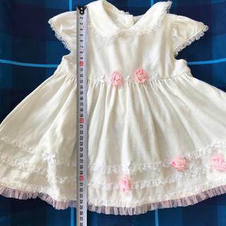 リトルミー(Little Me)の【1回のみ着用】ベビードレス ワンピース バラ 花 レース❶(ワンピース)