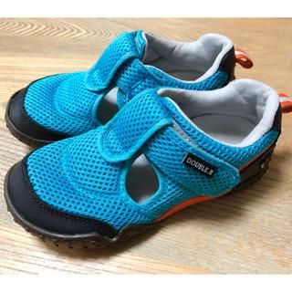 ダブルビー(DOUBLE.B)のミキハウス ダブルB 夏用 メッシュシューズ 靴 19.0(スニーカー)