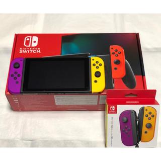 ニンテンドースイッチ(Nintendo Switch)の美品 送料無料 任天堂 switch 本体 ニンテンドー スイッチ ネオン(家庭用ゲーム機本体)