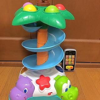 フィッシャープライス(Fisher-Price)のフィッシャープライスヤシの木タワーコロコロボールとバイリンガルスマートホン(知育玩具)