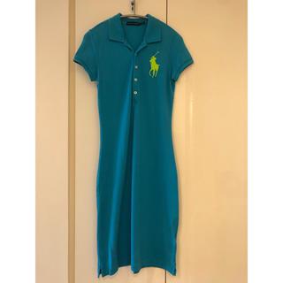ラルフローレン(Ralph Lauren)の美品♡ラルフローレン ポロシャツ ワンピース(ひざ丈ワンピース)