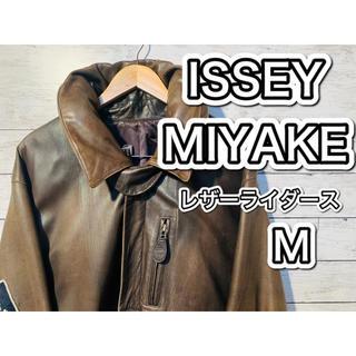 イッセイミヤケ(ISSEY MIYAKE)の#56 ISSEY MIYAKE 80s 羊革 ビンテージ ライダース Mサイズ(ライダースジャケット)