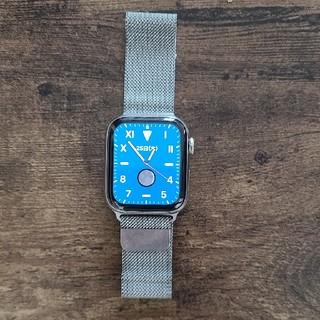 アップル(Apple)のapplewatch 4  44mステンレス シルバー(腕時計(デジタル))