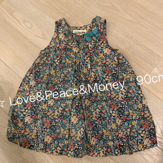 ラブアンドピースアンドマネー(Love&Peace&Money)の☆ Love&Peace&Money 90cm  フラワープリント ワンピ(ワンピース)