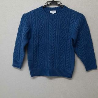 グリーンレーベルリラクシング(green label relaxing)のNo.74 green label ブルーのニット セーター size115(ニット)