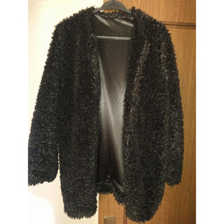 ウィゴー(WEGO)のもふもふブラックコート(毛皮/ファーコート)