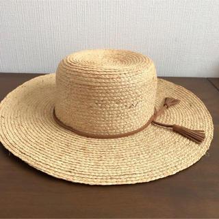 フリークスストア(FREAK'S STORE)のラフィア  麦わら帽子 イタリア製(麦わら帽子/ストローハット)