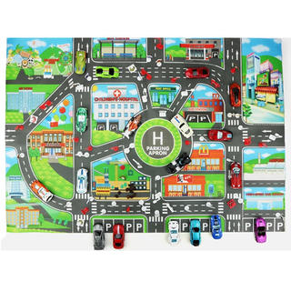 道路シート 道路マット レジャー ミニカー シート 駐車場 おもちゃ 車 道路(ミニカー)