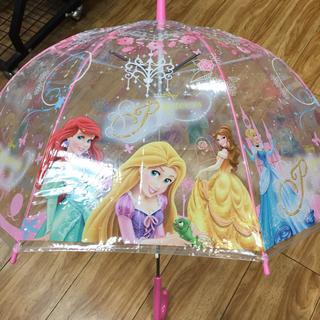 ディズニー(Disney)のディズニープリンセス 子供用ビニールジャンプ傘 新品(傘)