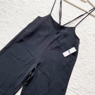ジーユー(GU)の人気完売品新品タグ付【GU ジーユー】サロペット ワイドパンツ ブラック XL(サロペット/オーバーオール)