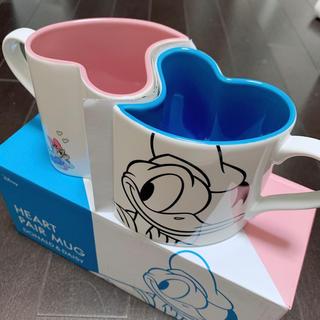 フランフラン(Francfranc)のディズニー ハート カップル マグカップ(グラス/カップ)