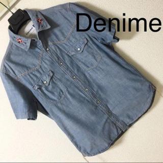 ドゥニーム(DENIME)の良品◆Denime ドゥニーム◆シャンブレー ネイティブ刺繍 シャツ ウエスタン(シャツ)