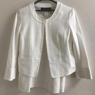 ミッシェルクラン(MICHEL KLEIN)の美品 MICHEL KLEIN ミシェルクラン白スーツ(スーツ)