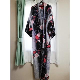 ハナエモリ(HANAE MORI)の【新品同様品】牡丹、朝顔の花柄浴衣(浴衣)