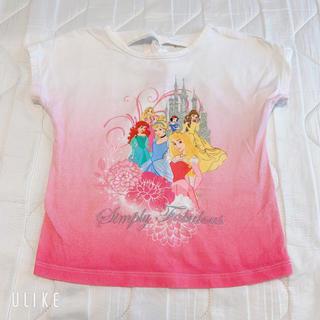 ディズニー(Disney)のディズニープリンセス Tシャツ100-110(Tシャツ/カットソー)
