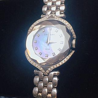 センチュリー 60万 レディース 時計 ダイヤモンド シェル サファイア 腕時計(腕時計)