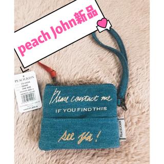ピーチジョン(PEACH JOHN)のデニム素材 PEACH JOHN  可愛い カードケース 定期入れ コインケース(コインケース/小銭入れ)