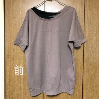 ニッセン(ニッセン)のTシャツ アシンメトリー ニッセン LL(Tシャツ(半袖/袖なし))