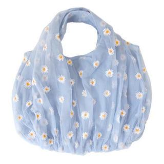 ✿ Daisy organdy tote bag .  BLUE 🥣