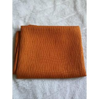 858 オレンジ色 ひし形柄 布地(生地/糸)