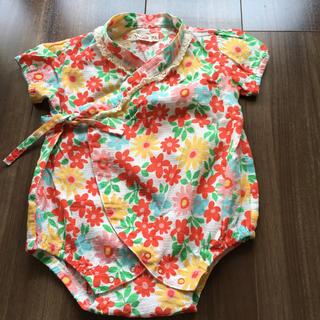 キムラタン - 花柄甚平ロンパース  70