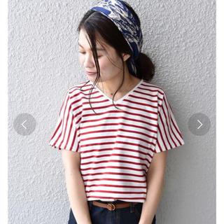 シップス(SHIPS)のソフトコットンボーダーVネックカットソー(Tシャツ(半袖/袖なし))