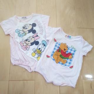 Disney - 半袖ロンパース 70 ディズニー