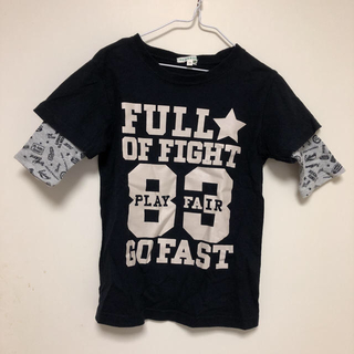 サンカンシオン(3can4on)の3can4on 半袖 Tシャツ 重ね着風 ブラック 子供 120(Tシャツ/カットソー)