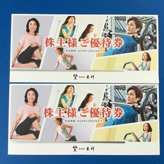 ホリデイ(holiday)の東祥 ホリデースポーツクラブ 株主優待券2枚(フィットネスクラブ)