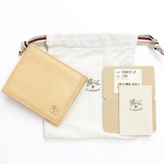イルビゾンテ(IL BISONTE)の新品 イルビゾンテ 二つ折り 財布 札入れ コインケース メンズ 人気 ヌメ革(折り財布)