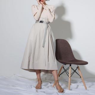 レディメイド(LADY MADE)のladymade2020ss ベルト付き切替フレアスカート(ロングスカート)