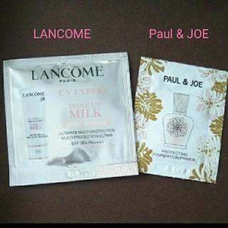 ポールアンドジョー(PAUL & JOE)のPaul & JOE★LANCOME ☆サンプル2枚(サンプル/トライアルキット)