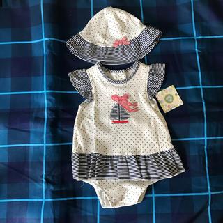 リトルミー(Little Me)の新品タグ付き ロンパース 帽子 80 ヨット(ロンパース)