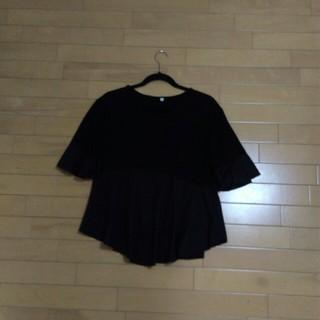 裾フレアートップス♡(カットソー(半袖/袖なし))
