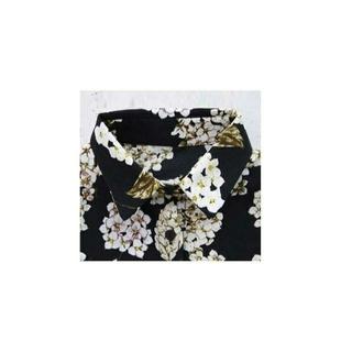 アンティカ(antiqua)のantiqua アンティカ 現行販売品 花柄シャツ BLACK(シャツ/ブラウス(長袖/七分))